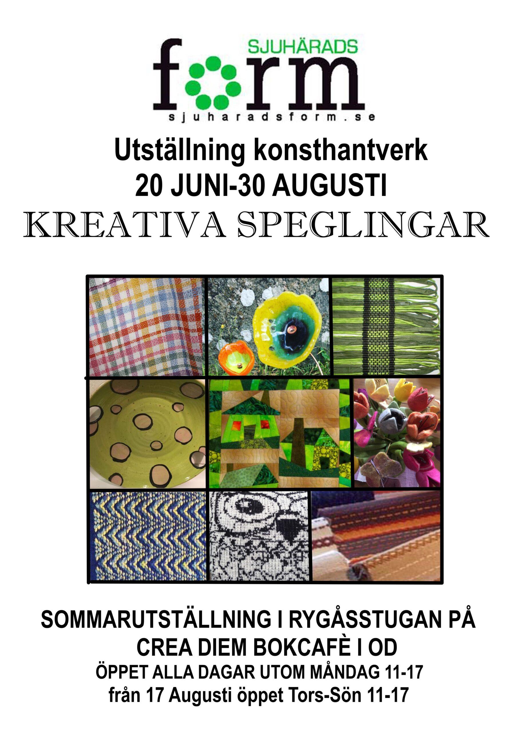 You are currently viewing Sommarutställning i Ryggåsstugan på Crea Diem Bokcafé i Od
